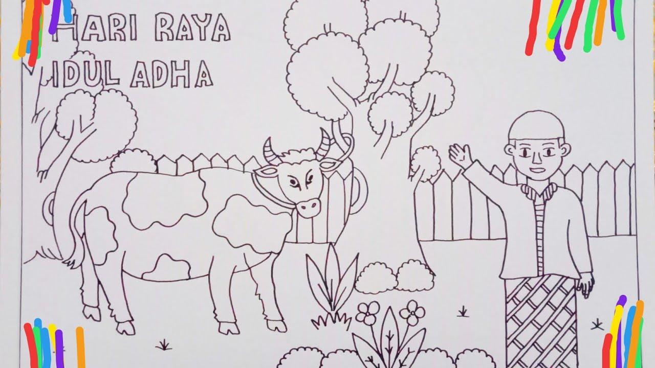 Cara Menggambar Selamat Hari Raya Idul Adha Dengan Mudah Youtube