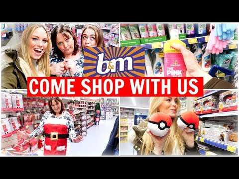 B&M CHRISTMAS COME SHOP WITH US 2019 | Alex Gladwin