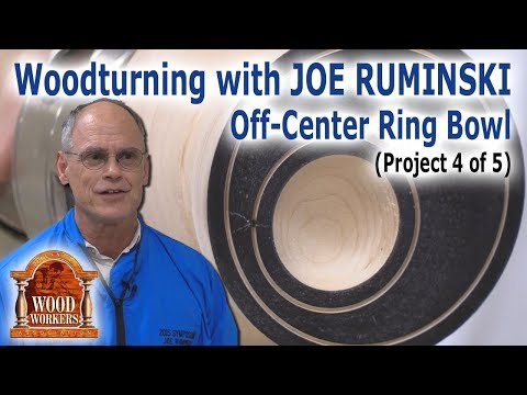 """Wood turning with Joe Ruminski - Project 4 """"Off-center Ring Ball"""""""