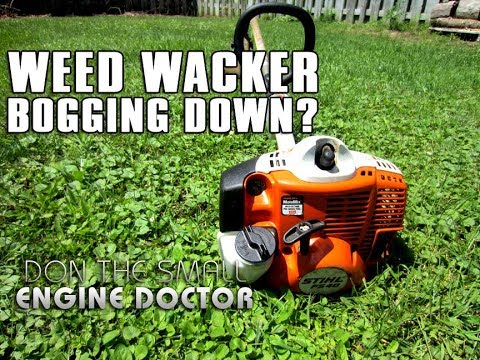 How To Fix A Grass Trimmer That Bogs Down And Won't Rev-up - Spark Arrester  Cleaning