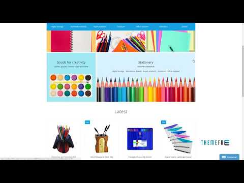 Stationery OpenCart Template TMT | Free Template  Fenton Meredith