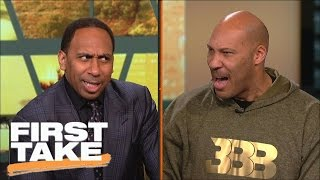 LaVar Ball And Stephen A. Have Intense Shouting Match | First Take | March 23, 2017 thumbnail