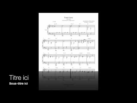True Love - Cole Porter - from High Society - Piano