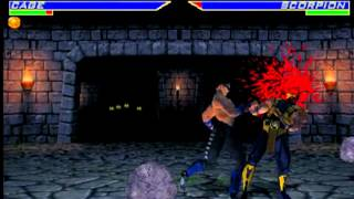 "Mortal Kombat 4 Arcade - ""Johnny Cage Runthrough"""