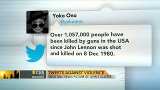 Video Yoko Ono tweets picture of John Lennon's bloody glasses download MP3, 3GP, MP4, WEBM, AVI, FLV Oktober 2018