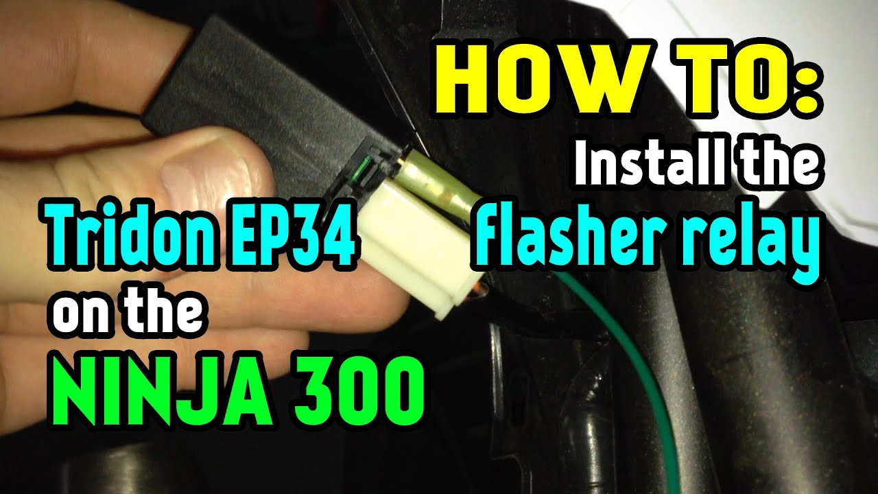 Installing Tridon Ep34 Led Flasher Relay On The Kawasaki