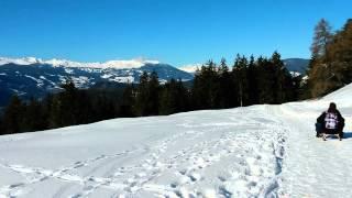 Urlaub Dolomiten Seiser Alm Rodeln im Schlerngebiet