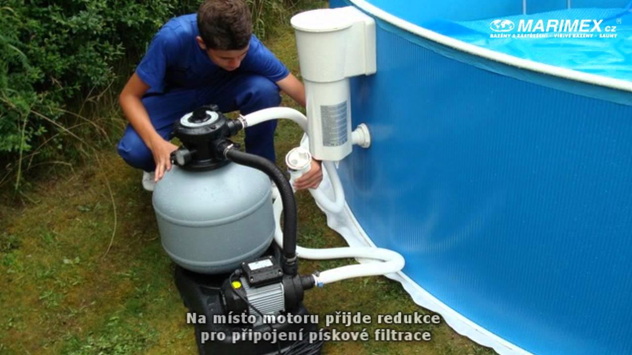 Připojení pískové filtrace k bazénu Orlando s kartušovou filtrací ...