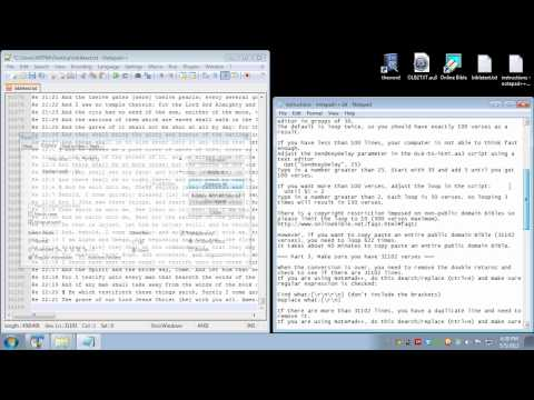 Converting Online Bible modules to a txt file, then to theWord, and then to MySword