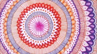 How to draw and color a Mandala !