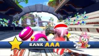 Sonic & SEGA All Stars Racing - All Character Victory Animations