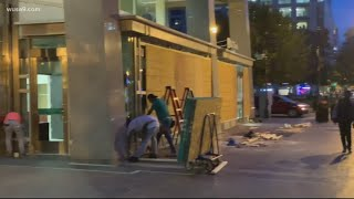 DC businesses board up windows, doors ahead of possible Election Day protests
