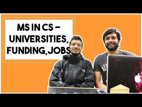 MS in CS | Universities, funding, jobs, H1B situation | MS in US