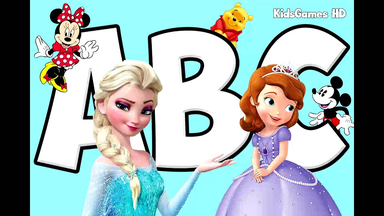 ABC Song for Kids - Disney Frozen Music & Learning Alphabet Song - Disney Baby Songs