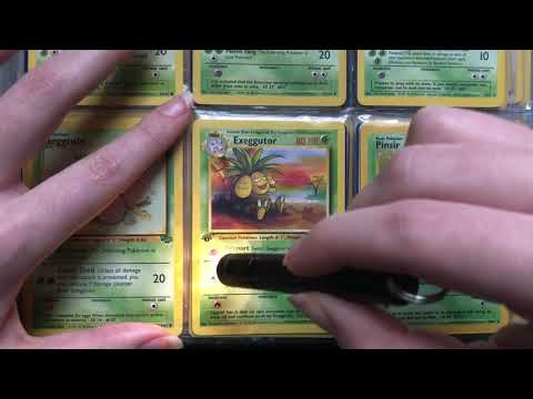 ASMR Pokemon Card Inspecting and Cleaning [no talking]