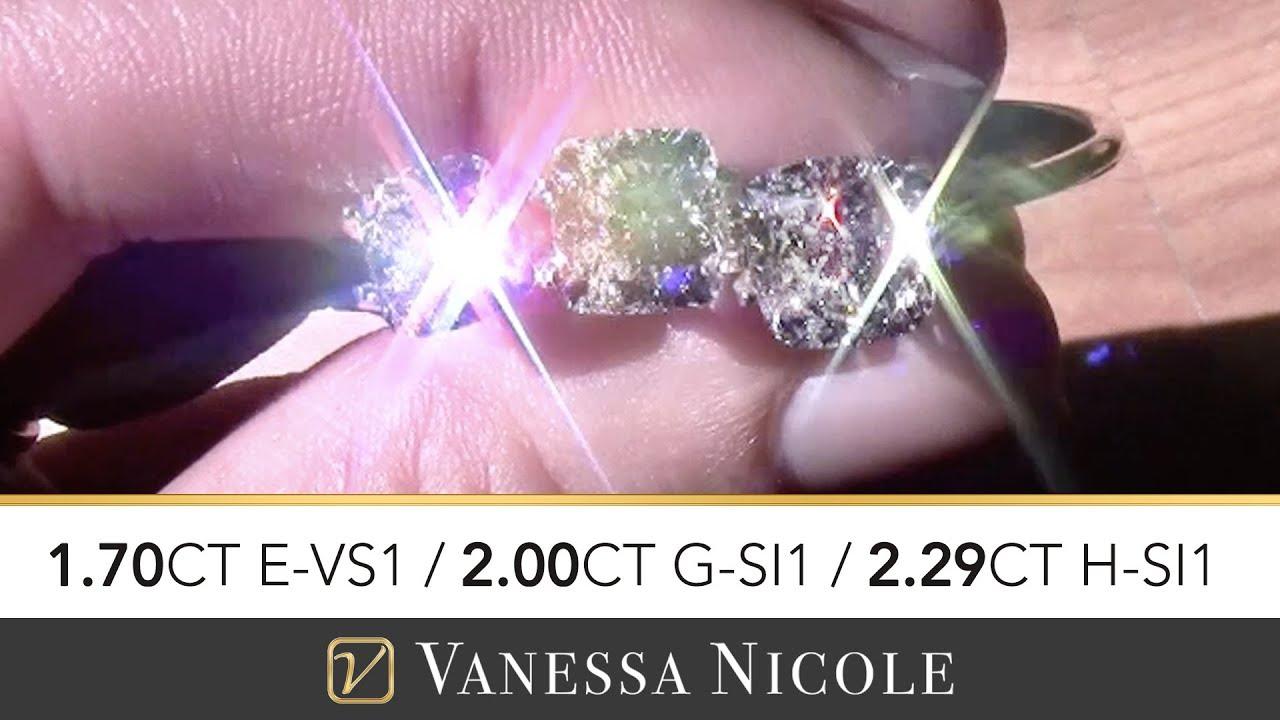 SQUARE CUSHION CUT DIAMONDS | Cushion Cut Diamond Selection for Dawn ...