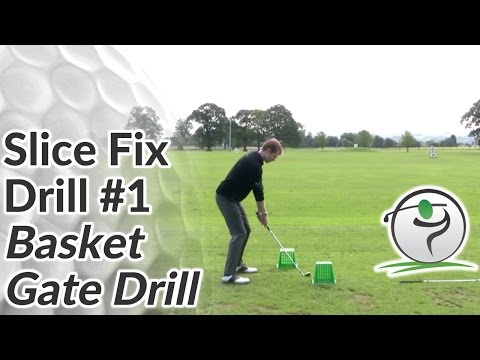 Golf Slice Fix – Drill #1 – Basket Gate Drill