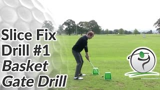 Cure Your Golf Slice Drill 1 - Basket Gate Drill