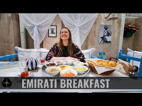DUBAI Food | EMIRATI Breakfast and CAMEL Milk Ice Cream | Arabian Tea House