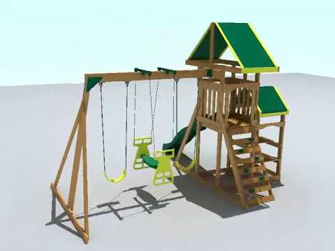 The Woodlands Cedar Wood Swing Set Sold At Backyard Imagination
