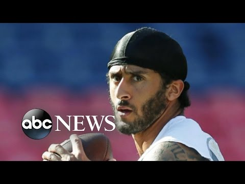 Colin Kaepernick Refuses to Stand During National Anthem