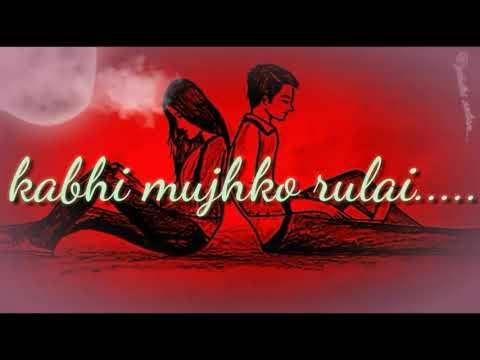 Kabhi Mujhko Hasai😂😁😀 Kabhi Mujhko Rulai😭😭 Lovely ❤💗💕💓w Status By @gnihotri Creation....😋😉