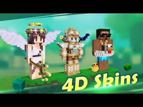 🔴Como pegar skin 4d Minecraft pe grátis