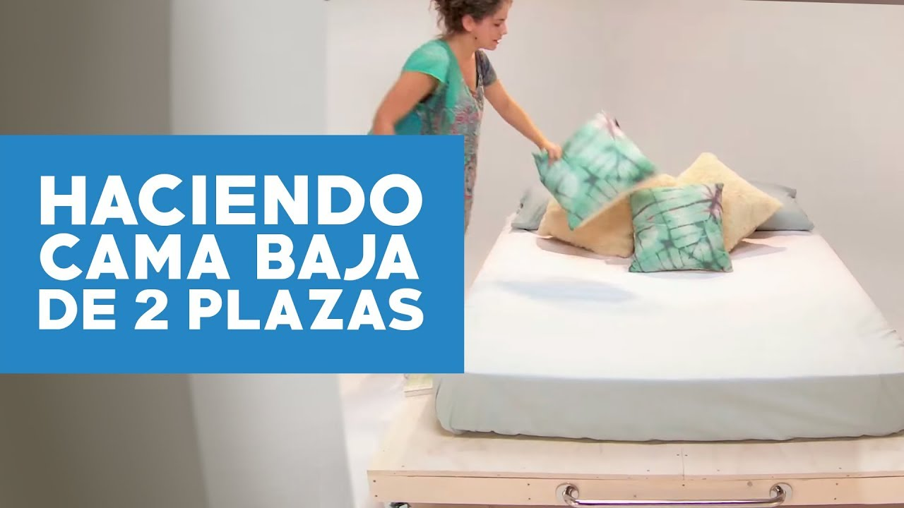 C mo hacer una cama baja de 2 plazas youtube - Como construir una cama ...