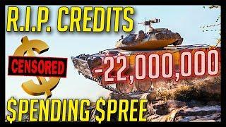 ► -22,000,000 Spending Spree = R.I.P. Credits - World of Tanks Gameplay