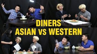 10 Differences: Asians Eating Out VS. Westerners Eating Out