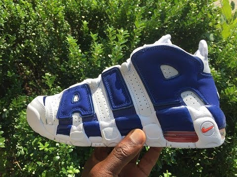 Quick Look At The Nike Air More Uptempo Knicks Edition With Pippen's Dunk  On Ewing