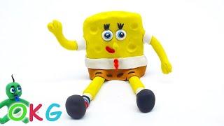 Making SpongeBob SquarePants Animation Play Doh Babies Superhero Stop Motion