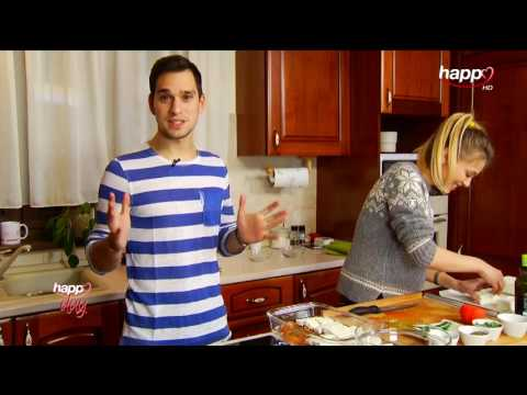 Happy Food cu Vlad și Andreea Ibacka. Rețeta: un aperitiv grecesc