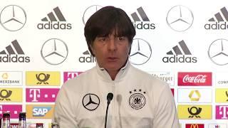 DFB-PK vor dem Spiel gegen Nordirland mit Bundestrainer Joachim Löw und Mats Hummels 04.10.17