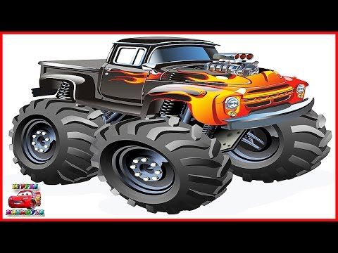 Cartoons about Cars Monster Truck Pro cars, the new series Monster Trucks cartoons