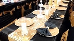 DIY BLACK AND GOLD TABLE SETTING, BLACK AND GOLD WEDDING, BLACK AND GOLD TABLE SETTING, DOLLAR TREE