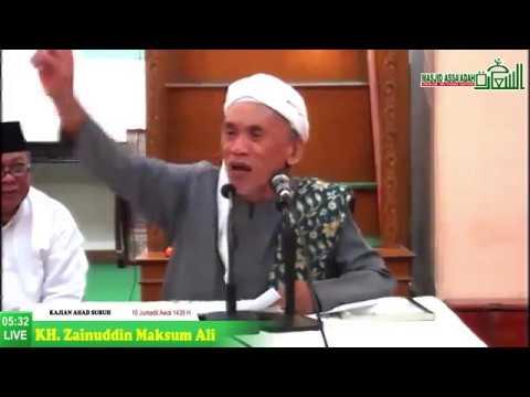 Kajian Ahad Subuh Masjid Jami Assa'adah | Keutamaan Sholat Berjamaah -  KH. Zainuddin Maksum Ali