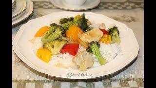 Куриная грудка с овощами - Очень Быстрий Вкусный Ужин!