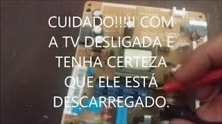 TV SAMSUNG Un32JH4205G  Não liga Led Apagado