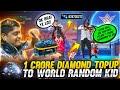 1 Crore Diamond Topup to World Random Kid