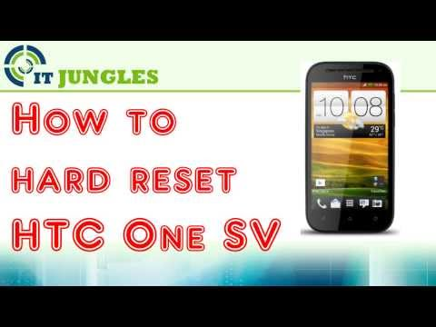 How to Hard Reset HTC One SV