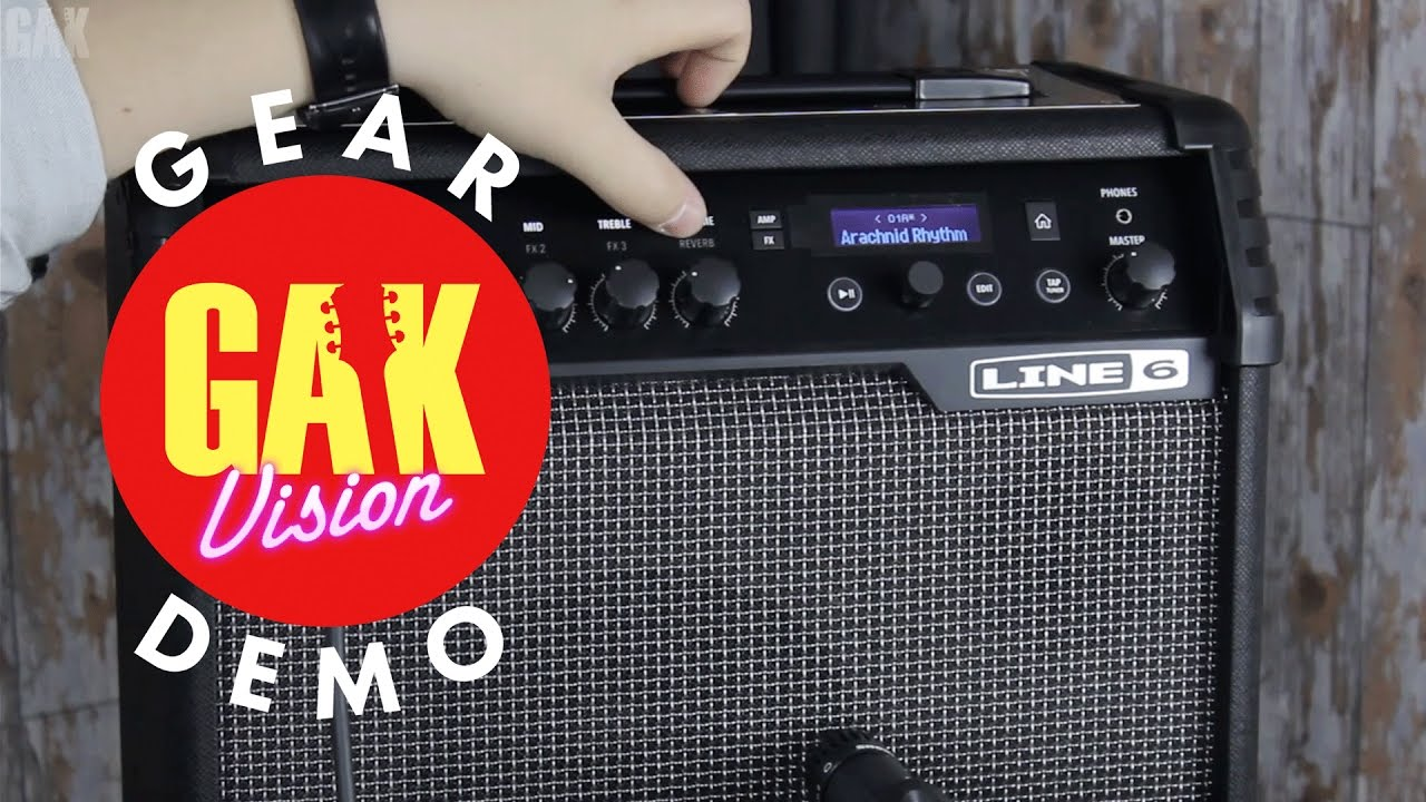 GAK DEMO : Line 6 Spider V 30 Guitar Amplifier with variax guitar