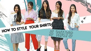 How To Style Your Shirts 5 Ways! | Hauterfly Style