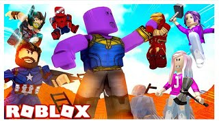 CAN WE DEFEAT THANOS?! / Roblox: Avengers Endgame Obby