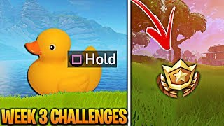 'Search Fortnite Rubber Duckies' Challenge! Fortnite Rubber Duckies Gameplay! Week 3 Rubber Duckies!