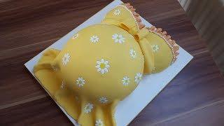 Babybauch-Torte mit Margariten/Ananasrührkuchen mit Ganache
