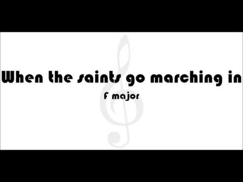 Play Along - When the saints go marching in   F major