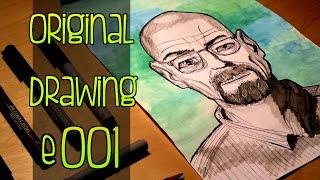 Original Drawing e001 - Heisenberg (Breaking Bad)