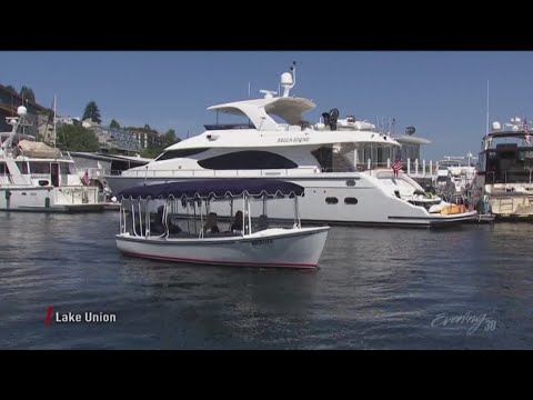 Rent boats by the hour with The Electric Boat Company on Seattle's Lake  Union - KING 5 Evening