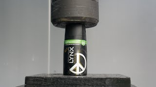 Crushing Lynx DEODORANT with Hydraulic press- Will it explode?